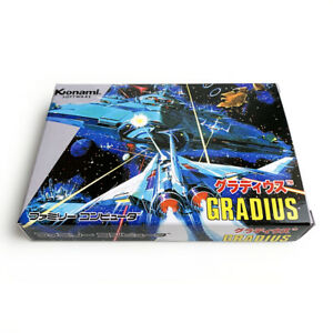 GRADIUS - Empty box replacement spare case for Famicom game Konami with tray
