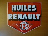 PB21F PLAQUE PUBLICITAIRE tolée age d'or Automobile : Huiles RENAULT