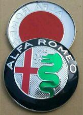 2x ALFA ROMEO BADGE EMBLEMA ANTERIORE + POSTERIORE 147 156 GT 159 BRERA MITO GIULIETTA