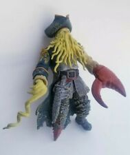 "Disney Pirates of the Caribbean Davy Jones Action Figure Zizzle 7"" Tall"