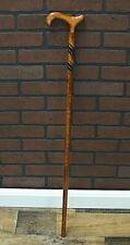 """Vintage / Antique Walking Cane - Carved Spiral Wood Design - Harvy 36"""""""