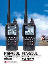 YAESU FTA-550L ProX Flugfunk Handfunkgerät mit VOR / ILS Navigation EN 300676-2