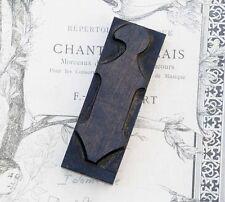 """letter: i  blackletter wood type 3.54"""" woodtype font letterpress printing block"""