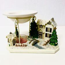 Vintage Yankee Candle Christmas Village Tea Wax Tart Warmer
