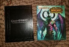 Art of World of Warcraft Burning Crusade Hardcover & Game of Thrones RPG (2)