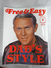 """Steve McQueen Free & Easy Vintage Fashion Magazine """"Dad'S Style"""" 4 / 6 Japanese"""