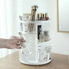 Makeup Rack 360 Degree Rotating Brush Jewelry Cosmetic Holder Storage Organizer