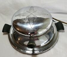 Coleman Lamp & Stove Waffle Maker Vintage Art Deco Electric Automatic Iron USA