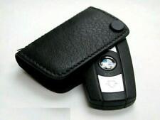 BMW KEY FOB HOLDER LEATHER CASE COVER BLACK GENUINE 51210414778