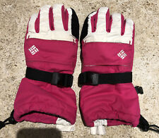 New listing Columbia Ski / Snow Gloves Pink/White Insulated Youth Small