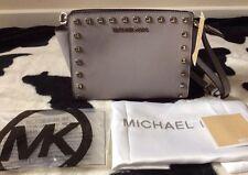 BNWT Michael Kors GRIGI BORCHIE Selma Medio Messenger Crossbody Bag Prezzo Consigliato £ 250