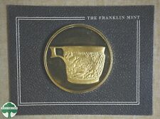 1983 Vapheio Cup Franklin Mint Gold Plated Bronze 50mm Medal - Original Holder