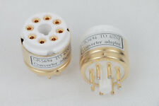 1pc Gold plated CK5694 TO 6SN7GT  CV181 B65 ECC32 ECC33 tube converter adapter
