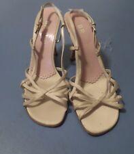 "Nice Ladies BP. by Nordstrom Beige Strappy Sandals 3"" heels - size 8 Medium"