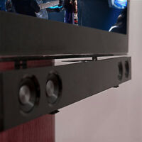 "Steel Sound Bar Speaker Bracket Mount Shelf Above Below TV  26 - 70"" Home Cinema"