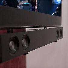 "Steel Sound Bar Speaker Bracket Mount Shelf Above Below TV  26 - 70"" Home Cinema"