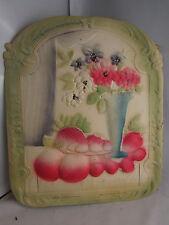 ancienne planche en carton gauffré decoupi epoque 1900 fleurs fruits