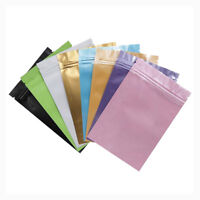 Aluminum Foil Mylar Zip Lock Bags Cosmetics Powder Pill Food Packaging Pouches