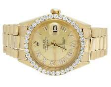 Mens Rolex 18K Yellow Gold Presidential Datejust 36MM Diamond Watch 3.5 Ct
