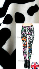 Super Soft Matte Fabric Hippy Retro Style Print Leggings Trousers UK 8-12