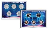 DONALD TRUMP 2017 JFK Half Dollar US 5-Coin Set in PREMIUM HOLDER