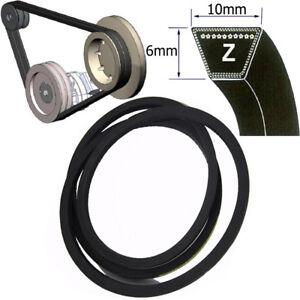 Z Section V-Belt Size Z17 ~ Z96 10mm x 6mm Wedge Driving Belts 450mm - 2440mm