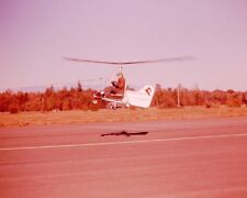 Vintage Slide 1950's Man Flying Homemade Gyro Glider Helicopter Type Vehicle