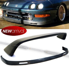 Fit 94-97 Integra 2Dr Type R Unpainted Black Rear Trunk Spoiler + Bys Front Lip(Fits: Acura Integra)