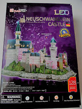 3D Puzzle Schloss Neuschwanstein LED Cubic Fun Castle Light Licht Germany