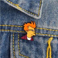 Comics Cartoon Futurama Philip J. Fry Enamel Pins Badges Brooches Badges Lapel