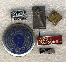 Latvia Riga Salaspils RVR VEF Minox  Veteran Russia Soviet Union 6 badges pins