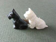 Black and White Scottie and Westie Dog Brooch Vintage