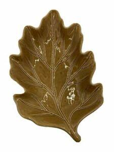 "Pottery Barn large  Gold Maple Leaf  serving platter Retired Thanksgiving 18"""