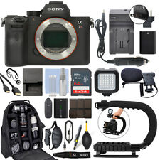 Sony a7R Mirrorless 61MP Digital IV Alpha Cuerpo De Cámara + Kit de Video 64GB Pro