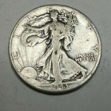 1943-D Walking Liberty 90% Silver US Half Dollar - LOT008
