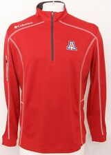 NEW Arizona Wildcats Red Columbia Omni-Wick Shotgun 1/4 Zip Shirt Men's L