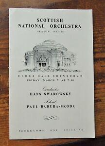 HANS SWAROWSKY and PAUL BADURA SKODA (1958) LISZT CONCERTO programme