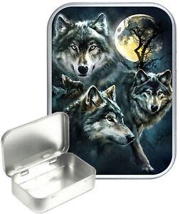 Wolf Prowl Tobacco Tin, 30ml Small Tin,Pill Tin,Gift Box,Storage Tin