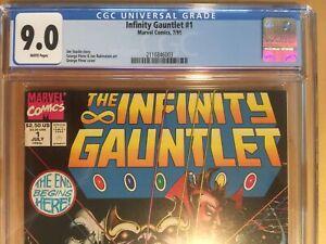 Marvel Comics 1991 INFINITY GAUNTLET #1 CGC 9.0 George Perez