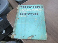 Suzuki Factory Service Manual 1973 GT750 K GT750K Lemans