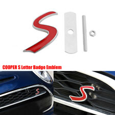 FOR MINI COOPER S GRILL BADGE REPLACEMENT EMBLEM METAL WITH FITTING KIT GRILLE