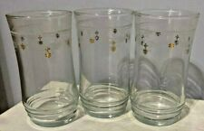 """KID/'S SOCCER FRENCH FOOTBALL PAIR DRINKING GLASSES CHILDRENS TUMBLERS 5.25/"""""""