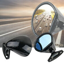 2x Vintage Oldtimer Classic Car Door Side Mirror Blue Glass Anti-glare Universal