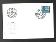 SWITZERLAND 1963 FIRST DAY COVER #429, EUROPA !!