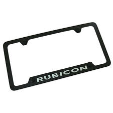Jeep Rubicon Notched Black License Plate Frame - 4 Hole