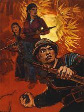 Advert était vietnam us Imperialism soldier Grenade Jungle Art poster print lv7127
