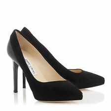 Jimmy Choo Rudy Black Suede / Patent Leather [ 47% OFF RRP ]