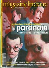 MAGAZINE LITTERAIRE N° 444 / LA PARANOÏA DU BONHEUR DE SE CROIRE PERSECUTE
