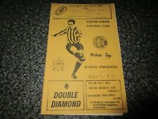 BURTON ALBION  v  CORBY TOWN   1971/2 ~ DECEMBER 27th  *****FREE POST*****