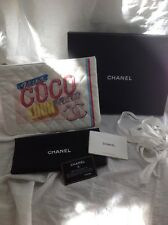 CHANEL 2017 Coco Cuba Canvas Drive-O Case Clutch Handbag